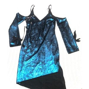 NEW Sequin Dress with Asymmetrical Hem